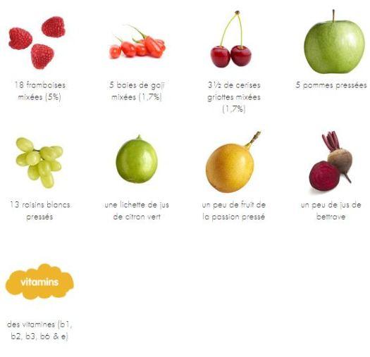 Framboise cerise et pomme