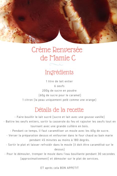 Crème Renversée de Mamie C